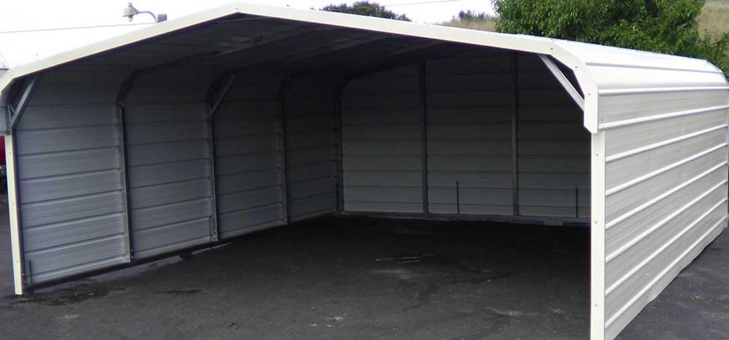 Carports garages sheds rv covers for Rv covered parking structures